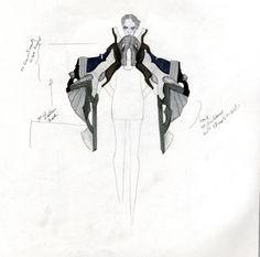 Fashion Sketchbook - fashion design development; fashion sketch; fashion portfolio // Rebecca Ward