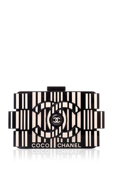 Chanel Runway Barcode Black And White Plexiglass Lego Clutch Bag by Madison Avenue Couture for Preorder on Moda Operandi