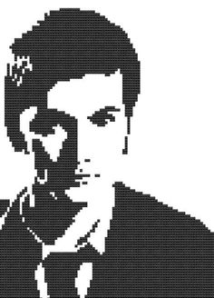 Cross Stitch Pattern SciFi Doctor Who David Tennant