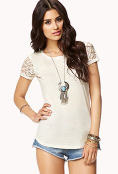 Lace Back Tee | FOREVER 21 - 2073627437