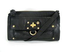 Juicy Couture Convertible Wristlet Clutch Black YSRU1416
