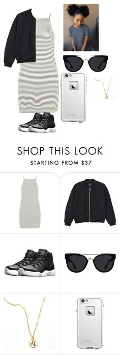 """""""Untitled #310"""" by nerdgirl14-boss on Polyvore featuring Topshop, Monki, NIKE, Quay and LifeProof"""
