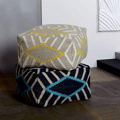 Diamond Stripe Pouf #westelm $175