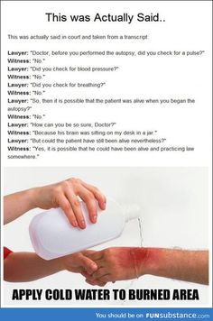 Lawyer got burned by witness.