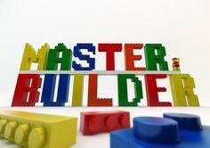 Master Builder EPIC Lego Brick Art - LEGO bricks alphabet. Brick fan, Geek, Nerd, Lego Movie, Mini-figure, Kids wall art, Home, Digital File on Etsy, $5.05