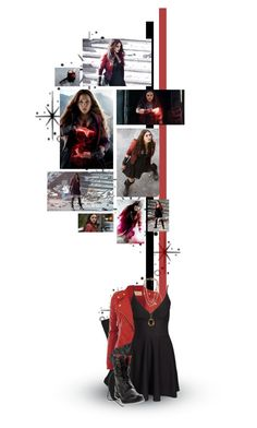 """Scarlet Witch"" by siriuslyoddsome ❤ liked on Polyvore featuring Fogal, Quiksilver, Alexander McQueen, Diesel, Chanel, Forever 21, Olsen, Avengers, marvel and scarletwitch"
