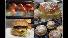 Burger Buns - Panini per Hamburgher e Panini al Latte Chefs, Burger Buns, Latte, Rolls, Bread, Baking, Pane Pizza, Ethnic Recipes, Youtube