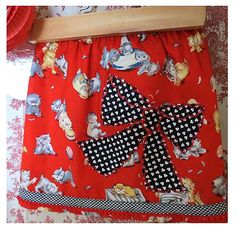 3T Kitties like Bows Skirt by FreckledChicken on Etsy, $22.00