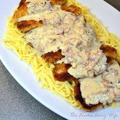 Schweine-Schnitzel. Pork loin cutlets with a wonderful gravy. ♥ The Foodie Army Wife