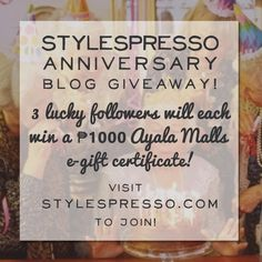 #StylespressoTurns4 Anniversary Giveaway!   STYLESPRESSO Espresso, Gift Certificates, Giveaways, Projects To Try, Anniversary, Blog, Gifts, Espresso Coffee, Presents