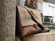 Bolso bandolera cuero Luscious Leather NYC