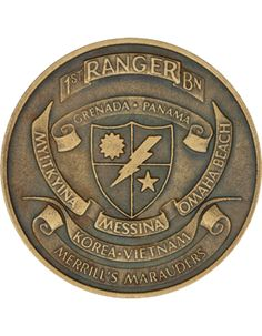 1st Ranger Battalion with Panama Challenge Coin