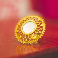 Beautiful Royal Rajasthani Ring. For more jewellery ideas, Download WedAbout app. Photo courtesy @Taniasethpotography  #WedAbout #Wedding #Weddings #Indianwedding #weddingplanning #bride #groom #WAbride #WAphotographer #weddingphotography #weddingphotographer #WAjewellery #jewellery #weddingjewellery