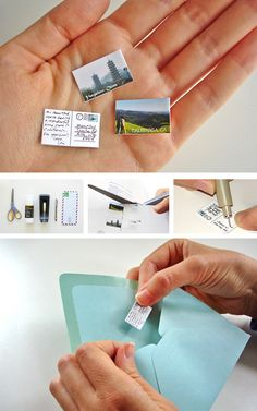 World's smallest photo postcard