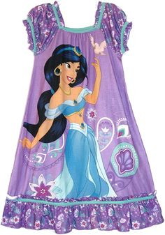 Amazon.com: Disney Jasmine Aladdin Purple Nightgown, Size 5/6, Gown: Clothing Disney Jasmine, Disney Princess Pictures, Sofia The First, Paw Patrol, Nightgown, Aladdin, Princess Peach, Kids Fashion, Angel