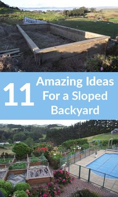 Some people struggle with sloped backyards, but you never will again!