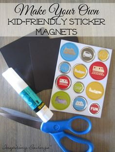 Keep those little hands busy by making your own fridge magnets for the kids. Create scenes and much more. Learn how here