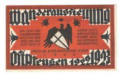 Notgeld Serienschein aus Königsberg (Kaliningrad): Wanderausstellung Ostpreußen