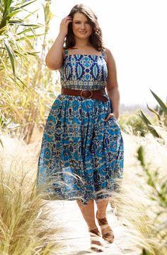 Taylor Dresses Floral Print Sundress (Plus Size) | Nordstrom