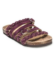 Look what I found on #zulily! Deep Purple Mary Strappy Suede Sandal #zulilyfinds