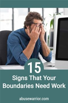 15 signs that your boundaries need work along with some additional information about what boundaries are, and why they're so darn important. Controlling Relationships, Broken Relationships, Abusive Relationship, Healthy Relationships, Relationship Advice, Feeling Discouraged, Feeling Overwhelmed, Gaslighting, Codependency