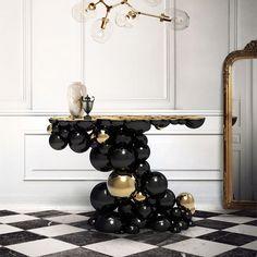 baroque futurist interiors | Table design baroque et moderne par Boca do Lobo