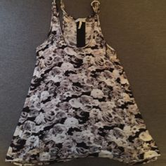 Pacsun tank Floral print, flowy, see through mesh strip down the back Pacsun  Tops Tank Tops