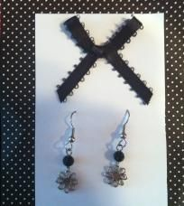 Dainty Flower Drop Earrings Free Ship No Slice