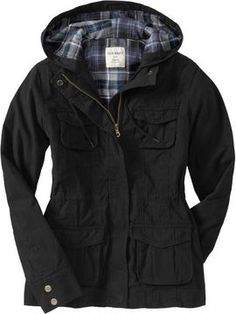 Womens Flannel-Lined Utility Jackets