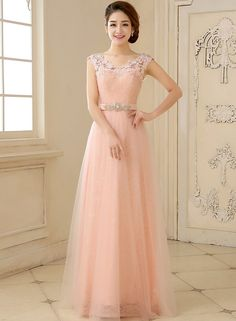 The beautiful dress is feauring v neckline, mesh panel with floral applique, rhinestone decoration and long length. It suits for daily wear and special occasion like wedding party, holiday party, ceremony, birthday party, pageant etc.;Polyester, Comfortab