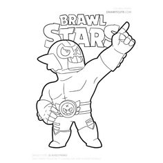 New El Rudo from Brawl Stars fanart by Draw it Cute. Clash Royale, Star Doodle, Star Coloring Pages, Sailor Moon, Star Logo, Fan Art, Clash Of Clans, Learn To Draw, Haha Funny