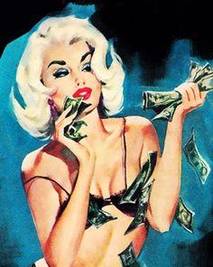 dope ❤ money pin-up