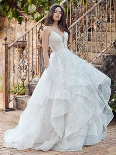 Colored Wedding Dresses, Dream Wedding Dresses, Boho Wedding Dress, Designer Wedding Dresses, Bridal Dresses, Wedding Gowns, Dresses Dresses, Tulle Ball Gown, Ball Gowns