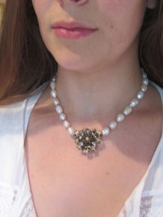 vintage repurposed assemblage jewelry necklace by atelierparis, $69.00