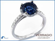 A touch of color and gorgeously made by Verragio. Stop by Karats Jewelers in Overland Park, KS or call us at 913 239 0735 and inquire about the Verragio collection.