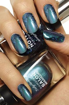 Love nail art? Create a masterpiece of your own with Sally Hansen Complete Salon Manicure in Jungle Gem, Jaded, Watercolor & I Lilac You.
