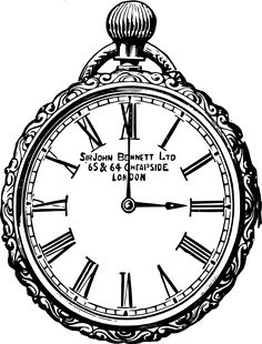 Beyond the Fringe: Vintage Clock Graphics Vintage Cards, Vintage Images, Vintage Clocks, Alice In Wonderland Printables, Clock Drawings, Steampunk Clock, Black And White Drawing, Coloring Book Pages, Digi Stamps