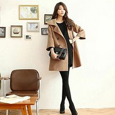 Women's  Double Breasted  Woolen Coat (More Colors) – USD $ 29.50