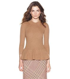 {madeline peplum sweater - tory burch} {gorgeous!}