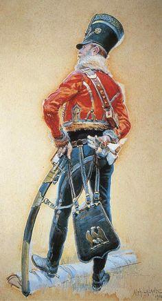 Ufficiale del 4 rgt. ussari francese - Alphonse Lalauze