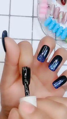 Nail Art Designs Videos, Nail Art Videos, Nail Designs, Nail Art Hacks, Nail Art Diy, Diy Nails, Stylish Nails, Trendy Nails, Builder Gel Nails