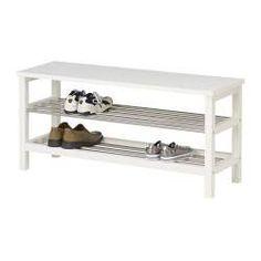 TJUSIG Banco c/arrumação p/sapatos - branco - IKEA