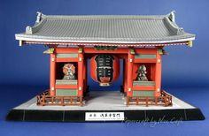 Kaminarimon Gate Of Senso-Ji Temple Paper Model - by Canon  --  Find the link to download this cool and free paper model at Papermau Blog!