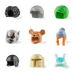 NEW minifigure headgear just added.  Including the super rare LEGO rat head!  .  Available from www.firestartoys.com  .  #lego #afol #tfol #kfol  #bricknetwork #legophoto  #legography #toyphotography  #legostagram #legominifigure  #legominifigures #legominifigs  #legophotography #legogram  #legos #minifigurehq  #legolover #geekgifts  #legosigfig    #Regram via @B9B0EiShmCc Lego Custom Minifigures, Lego Minifigs, Lego Lego, Legos, Rat Head, 3d Man, Lego Marvel Super Heroes, Cool Lego Creations, Lego Photography