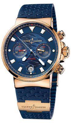 356-68LE-3 Ulysse Nardin Blue Seal Chronograph Blue Dial Mens Watch.