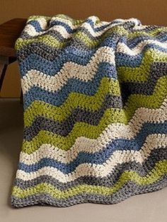 crochet pattern - manly ripple afghan