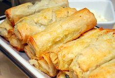 One of my absolute favorite Greek dishes is spanakopita, which is a mixture of spinach, onions, cottage cheese and feta cheese wrapped with ...