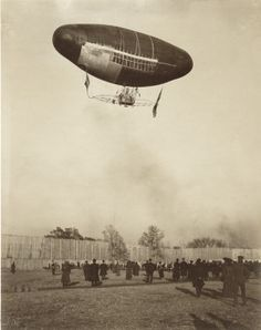 Francois Airship in trial flight. Department of Transportation, 1904 World's Fair. Jessie Tarbox Beals.