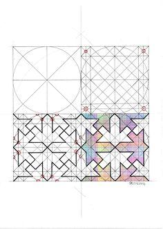 Islamic Art Pattern, Arabic Pattern, Pattern Art, Pattern Design, Geometric Tattoo Design, Geometric Drawing, Geometric Art, Geometric Patterns, Texture Drawing