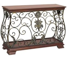 Antique Ironwork Scrolls Console Table | 55DowningStreet.com
